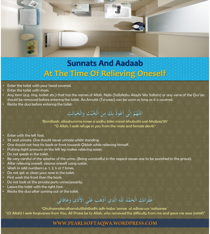 Sunnats And Aadaab At The Time Of Relieving Oneself